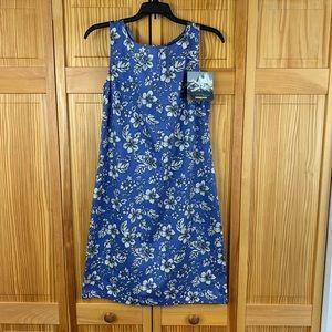 Patagonia Women's Pataloha Blue Floral Dress 8